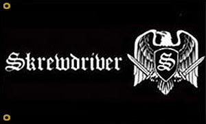 Skrewdriver Flag - Click Image to Close